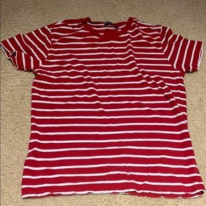 brandy melville red/white striped tee